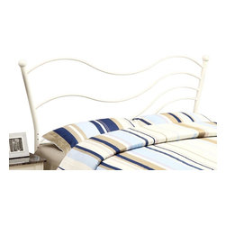 Monarch Specialties - Monarch Specialties 2655Q Queen/ Full Combo Headboard or Footboard in White - This sleek modern head/footboard features a unique wave design and will be an excellent addition to your bedroom decor. Finished in a white colored sturdy metal, this piece can accommodate a queen or full sized bed. Use as a footboard or add the extendable legs to create a headboard. This piece will no doubt satisfy all your decorative needs