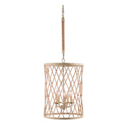 Zuo Modern Contemporary, Inc. - Mica Ceiling Lamp Twine & Beige with Rust - The Mica Ceiling Lamp is casual yet sophisticated. Features an intersecting shade that veils upright bulbs. If you ever wanted to put your lamp in a twine cage, here's your shot.