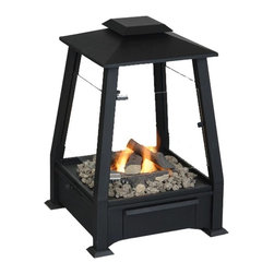 "Real Flame - Sierra Outdoor Fireplace, Black - Extend your outdoor living season and enjoy a real fire without the mess and hassle of wood. Slide-out drawer hold up to four cans of fuel. Includes storage cover to protect unit when not in use. Available in Copper and Black.-Made from powder-coated steel, glass, and hand-painted cast concrete.-Comes complete with outdoor fireplace, decorative lava rock, and protective cover, Real Flame gel fuel sold separately.-90 day limited warranty-Assembly Required-Dimensions: 20"" L x 29"" H x 20"" W; 66 lbs. Weighs 70 lbs."