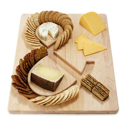 Cheese and Crackers Serving Board - This ampersand serving board wins big points for its clever design!