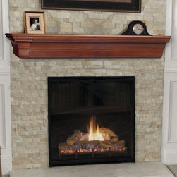 Pearl Mantels Lindon Traditional Fireplace Mantel Shelf - The Pearl Mantels Lindon Traditional Fireplace Mantel Shelf embodies classic Mission design with its layered lines and angled edges. This seemingly simple mantel shelf employs clean lines in decreasing length from top to bottom to bring an appealing sense of depth to your fireplace. Shelf Depth provides ample room for display pieces and mantel clocks. This mantel shelf is crafted from solid wood for proven durability and quality. Available in your choice of Mission Oak-finished or unfinished options. Choose the unfinished option to customize the appearance of your fireplace with your choice of finishing varnish or paint. Dimensions: 36 in. option measures: 36L x 8W x 6.5H in. 48 in. option measures: 48L x 8W x 6.5H in. 60 in. option measures: 60L x 10D x 7H in. 72 in. option measures: 72L x 10D x 7H in. About the Pearl InlayPearl Mantels is now including a discrete authentic inlaid pearl on each of their pieces as a certificate of authenticity. During the transition your Pearl Mantel may or may not include this feature. Please contact our Customer Care Center with any questions. About Pearl Mantels Inc. Pearl Mantels Inc. believes in business based on honest value quality products and personal service - even contacting clients directly to evaluate their needs and develop leading-edge solutions. Pearl also believes mantels are the emotional core of rooms representing heritage and tradition and displaying precious heirlooms. Each Pearl mantel boasts exclusive detail and classic design all at an affordable price. Plus a variety of finish options ensures Pearl Mantels Inc. indeed has a mantel for every hearth.