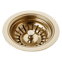 Delta - Kitchen Sink Flange and Strainer in Polished Brass - Delta 72010-PB Kitchen Sink Flange and Strainer in Polished Brass.