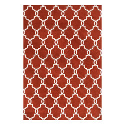 """Loloi Rugs - Loloi Rugs Charlotte Collection - Rust, 7'-6"""" x 9'-6"""" - The Charlotte Collection's striking patterns may draw you into a room, but it is the incredibly soft surface that will keep you there. Whether you are kicking your shoes off after a long day of work or just enjoying a lazy Sunday, your feet will appreciate the comfy microfiber feel. With a surface this soft, Charlotte is the ideal choice as a bedside accent, family room centerpiece, and even a bathroom rug in a scatter size. What's more, Charlotte's 100% polyester fibers are highly stain and moisture resistant, so its colors remain vibrant over time."""