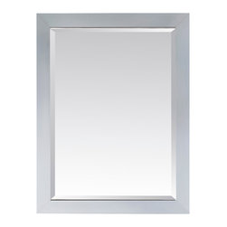 Avanity - Modero 28 in. Mirror - The Modero 28 in. X 32 in. poplar wood framed mirror features an espresso finish with simple clean design. It matches the Modero vanities for a coordinated look and includes mounting hardware that makes leveling easy. The mirror hangs horizontally and vertically.