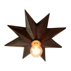 Star Ceiling Mount by Ballard Designs - Twinkle, twinkle little star. My, what an interesting light you are!