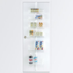 White Elfa Door and Wall Rack System Components - Prices and component dimensions range