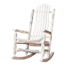 Montana Woodworks - Montana Woodworks Adult Log Rocking Chair in Ready to Finish - Handcrafted from solid American grown wood by the artisans of Montana Woodworks, this cozy log rocking chair will ease your worries away with it's gentle back and forth motion. Ergonomically designed and built to ensure hours of comfortable use, it is also designed and built to last for generations; truly an heirloom quality piece. You will be delighted with the artistry and the quality materials of this chair; your granddaughter can rock her child to sleep just as you rocked her mother years before. Comes fully assembled. 20-year limited warranty included at no additional charge.