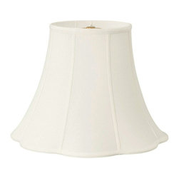 Royal Designs, Inc. - Bottom Outside Scallop Bell Lampshade - This Bottom Outside Scallop Bell Basic Lampshade is a part of Royal Designs, Inc. Timeless Basic Shade Collection and is perfect for anyone who is looking for a traditional yet stunning lampshade. Royal Designs has been in the lampshade business since 1993 with their multiple shade lines that exemplify handcrafted quality and value.
