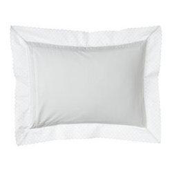 "Lauren Ralph Lauren White Pillow with Embroidered Flange, 12"" x 16"""