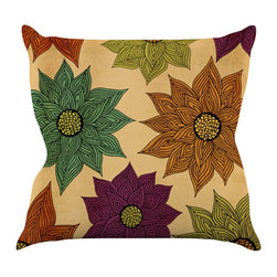 "Kess InHouse - Pom Graphic Design ""Color Me Floral"" Throw Pillow (16"" x 16"") - Rest among the art you love. Transform your hang out room into a hip gallery, that's also comfortable. With this pillow you can create an environment that reflects your unique style. It's amazing what a throw pillow can do to complete a room. (Kess InHouse is not responsible for pillow fighting that may occur as the result of creative stimulation)."
