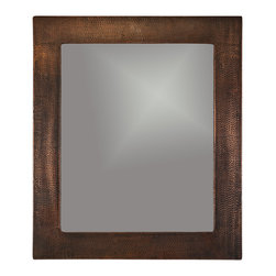 "Premier Copper Products - Premier Copper Products MFREC3631 36"" Hand Hammered Rectangle Copper Mirror - Uncompromising quality, beauty, and functionality make up this Hand Hammered Copper Oval Mirror Frame.  Our hand made copper mirrors complement a wide variety of styles and colors."