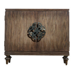 Hooker Furniture - Savion Chest - This chest knows something. You can tell just by looking at it that it has secrets. Mystery, romance and beauty are all wrapped up in a stunning package punctuated by the oversized medallion hardware and delicately turned legs. There is a story here.