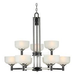 Forte Lighting - Forte Lighting 2520-09 32Wx32H 9 Light Chandelier - Contemporary / Modern 9 Light Chandelier