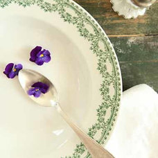 Traditional Dining Bowls by French Larkspur