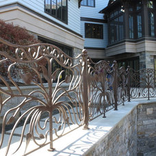contemporary fencing by Artesano Iron Works