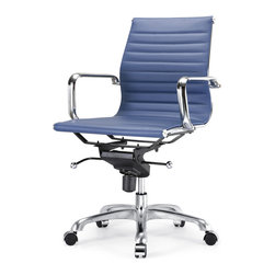 Meelano - M344 Office Chair in Blue -