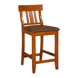 Linon - TORINO COLLECTION SLAT BACK BAR STOOL 30TORINO COLLECTION SLAT BACK COUNTER STOO - Dimensions: 20.1 x 16.9 x 42.9 inches