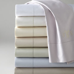 "Charisma - Charisma Avery Queen Fitted Sheet - We're offering these luxurious 600-thread-count Egyptian cotton sateen sheets in a wonderful array of soft colors. Please select color when ordering. Flat sheets and pillowcases may be monogrammed. Fitted sheets have 19"" deep pockets. Machine wash. Imported. You will be able to specify per"