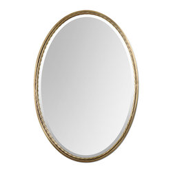 Uttermost - Casalina Brass Oval Mirror - There is a place for a mirror or mirrors in every room in your home. Entryway, hallway, dining room, living room, bedroom, bathroom, kid's room and mudroom. And if you live in a loft, you can improvise. There is plenty of wall space, just not many rooms.