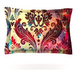 "Kess InHouse - Caleb Troy ""Galaxy Tapestry"" Pillow Sham (Cotton, 40"" x 20"") - Pairing your already chic duvet cover with playful pillow shams is the perfect way to tie your bedroom together. There are endless possibilities to feed your artistic palette with these imaginative pillow shams. It will looks so elegant you won't want ruin the masterpiece you have created when you go to bed. Not only are these pillow shams nice to look at they are also made from a high quality cotton blend. They are so soft that they will elevate your sleep up to level that is beyond Cloud 9. We always print our goods with the highest quality printing process in order to maintain the integrity of the art that you are adeptly displaying. This means that you won't have to worry about your art fading or your sham loosing it's freshness."