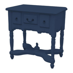 EuroLux Home - New Entry Table Dark Blue Painted Hardwood - Product Details