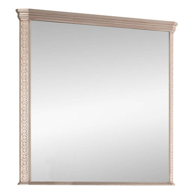"""Macral - London Wall-Framed Mirror, Antique Silver, 40 Inches - London Framed mirror Antique silver, available in 40"""". The price ONLY includes the mirror, all the rest items such as the vanity, the faucet, linen cabinet...are NOT INCLUDED, but can be sold separately."""