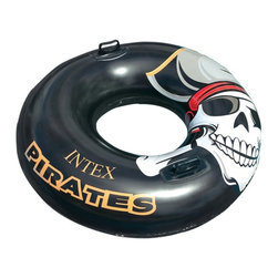 Intex - Intex Pirate Tube Multicolor - 58268EP - Shop for Floats and Toys from Hayneedle.com! This fun pirate-themed Intex Pirate Tube provides a comfortable spot to relax on as you lounge around and cool off in the pool this summer. The intertube features a skull-and-crossbones design printed on durable 12-gauge vinyl. Comes with two handles that make climbing on top of the tube a breeze. Recommended for children 9 years and older.About IntexIntex has been the world leader in the design and production of high-quality innovative products for indoor and outdoor recreation for more than 40 years. The company's above-ground pools pool accessories and pool toys are recognized around the world for their tremendous value. Intex is committed to designing and manufacturing products that meet stringent safety standards.The company conducts intensive testing on finished products to ensure the highest standards of quality and safety. The testing serves as a final check to make sure the products will provide years of satisfying and safe use. The products are sold to customers in more than 100 countries. Intex continues to create fun safe products that will keep your kids - and you - happy all summer long.