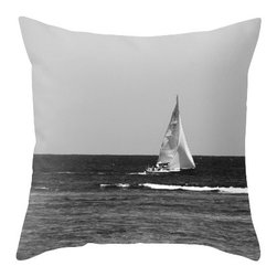 """BACK to BASICS - Sail Boat Pillow Cover, 20x20 - Throw Pillow Cover made from 100% spun polyester poplin fabric, a stylish statement that will liven up any room. Individually cut and sewn by hand, the pillow cover measures 16"""" x 16"""", 18"""" x 18"""" or 20"""" x 20"""" depending on the size you choose, features a double-sided print and is finished with a concealed zipper for ease of care."""