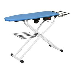 Reliable C88 Home Vacuum Ironing Table - The Reliable™ Home Vacuum Ironing Table is equipped with a powerful and fast vacuum motor. The strong vacuum will give you a clean, crisp finish to your garments, guaranteeing professional results. The fast startup time means you won't be waiting for the motor to rev up to speed.Like all Reliable™ products, the C88 is built to last. It is made entirely of metal in order to ensure stability and sturdiness even for heavy-duty professional work. The built-in heating element helps dissipate the steam, and keeps the inside of the machine dry and rust free.This item is best used for:All types of clothingLinens and other household itemsGeneral touch-up workKey features of this item include:Powerful vacuum motorBuilt-in heating elementUsable from either side of the tableFolds up quickly and easilyQuick-dry textured polyester pad and cover set10 amps, 120VWeighs 50 lbs.Recommended for residential or commercial useAbout Reliable Corporation Founded in 1955 by the father of the current CEO, Reliable has grown from a small provider of sewing machines to an industry leader serving several markets. The firm's extensive line of sewing and fabric care products are used in the garment industry, the alteration sector, in drapery workrooms, and in other markets. Its professional steam cleaning products are used in dentist offices, jewelry stores, hospitals, restaurants, and other commercial applications. Reliable's line of residential sewing machines and steam cleaners offer the same high-quality innovation and performance for home use.