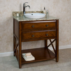 """30"""" Clinton Vanity for Semi-Recessed Sink - Perfect for the minimalist, the 30"""" Clinton Vanity features clean lines and a beautiful Cherry finish."""