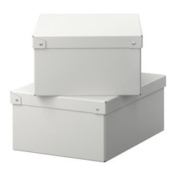 IKEA of Sweden - KNATA Box with lid for paper - Box with lid for paper, white