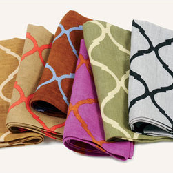 Tile Napkins - These napkins by Kim Seybert are classic while still up to date in the latest large-scale design and colors.