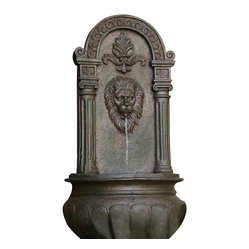 Leo Outdoor Wall Fountain, Iron