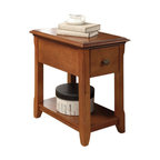 """Acme - Corin Cherry Finish Wood Chair Side End Table with Drawer and Straight Legs - Corin cherry finish wood chair side end table with drawer and straight legs. Measures 14"""" x 22"""" x 23"""" H. Some assembly required."""