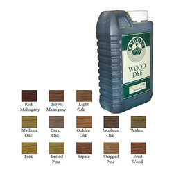 1 Liter Dark Oak - Fiddes NGR Non Grain Raising Wood Dye Stain - Formulated to offer exceptional depth of color on all interior wood surfaces