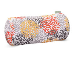 Majestic Home - Outdoor Citrus Blooms Round Bolster Pillow - Add a splash of color and a little texture to any environment with these great indoor/outdoor plush pillows by Majestic Home Goods. The Majestic Home Goods Round Bolster Pillow will add additional comfort to your living room sofa or your outdoor patio. Whether you are using them as decor throw pillows or simply for support, Majestic Home Goods Round Bolster Pillows are the perfect addition to your home. These throw pillows are woven from Outdoor Treated polyester with up to 1000 hours of U.V. protection, and filled with Super Loft recycled Polyester Fiber Fill for a comfortable but durable look. Spot clean only.