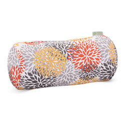 Outdoor Citrus Blooms Round Bolster Pillow