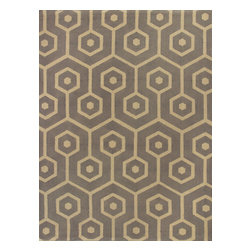 KAS - Kas Natura 2263 Slate Mosaic Rug - 6 ft 6 in x 9 ft 6 in - Kas Natura 2263 Slate Mosaic Area Rug. Kas Natura 2263 Slate Mosaic Area Rug. Our KAS Natura rugs pump up Eastern Indian motifs for a colorful, casual look. These vivid works of art will add fun and function to your room setting in fresh, updated colorations. Natura rugs have been machine woven in India, ensuring the heavy-duty jute construction provides durability and rich texture for your active lifestyle. Each modern Natura rug is ready to make a wow-statement in your contemporary space.