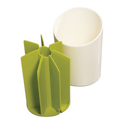 Joseph Joseph - Joseph Joseph Segment Utensil Pot, White - Keep all your essential kitchen tools on hand with this stylish utensil pot. Its angled, segmented design provides separate compartments for organized storage to prevent tools from becoming tangled and difficult to remove. Divider section can be separated for easy cleaning. Utensils not included.
