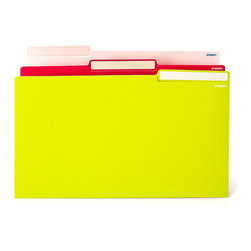 Poppin - File Folders - A few new hues for the office are in order. These cool files will help you stay color-coded and organized, and will look good doing it.