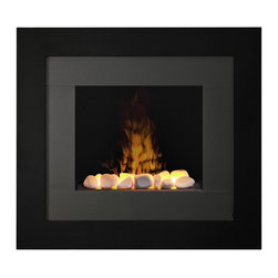 Dimplex - Dimplex Redway Wall-Mount Fireplace - Dimplex - Electric Fireplaces - RDY20R - Enticing is the only way to describe the Opti-myst flame technology surrounded by the gloss black and grey frame of the Redway wall-mount fireplace. With or without heat the flame will mesmerize.
