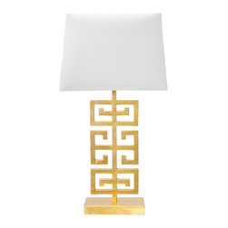 Worlds Away - Worlds Away Jasper Gold Leaf Table Lamp - Worlds Away Jasper Gold Leaf Table Lamp