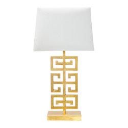 Worlds Away - Worlds Away Jasper Gold Leaf Table Lamp - Worlds Away Jasper Gold Leaf Table Lamp
