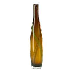Cyan Design - Cyan Design 00916 Large Brown and Green Smoked Vase - Cyan Design 00916 Large Brown and Green Smoked Vase