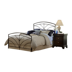 Hillsdale Furniture - Hillsdale Thompson Panel Bed - Twin - Hillsdale Furniture's Thompson bed boasts simple yet soft transitional design elements: gently curved spokes, an effortless silhouette, and unfettered round castings. Finished in a versatile bronze, and constructed of heavy gauge tubular steel, this bed is adaptable enough for any bedroom in your home. Minor assembly required.