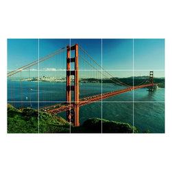 Picture-Tiles, LLC - Bridge Photo Bathroom Shower Tile Mural  24 x 40 - * Bridge Photo Bathroom Shower Tile Mural 1346