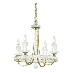 Candice Olson - Candice Olson Aristocrat Traditional Chandelier X-H4-0547 - This unique AF Lighting Aristocrat Traditional chandelier displays a shiny gold finished frame with curving arms. With the crystal trim and candles, it softens the look of the chandelier. This chandelier is an attractive fixture for a sophisticated living area.