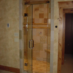 Hellenbrand Glass, LLC - Custom heavy glass shower door