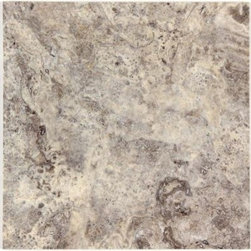 Stone & Co - Silver Travertine Honed / Filled 12x12 Floor and Wall Tiles - Silver Travertine Honed / Filled 12x12 Floor and Wall Tiles