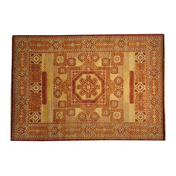 1800-Get-A-Rug - Red Egyptian Mamluk Hand Knotted 100% Wool Oriental Rug Sh16974 - A Mamluk hand knotted rug is like the transition between a Turkish and a Persian rug. A central medallion with lots of florals in a stylized semi-geometric fashion... Rich and vivid colors and yet in harmonious and decorative combinations... A Mamluk rug is a majestic piece of art which reflects the beauty of its humble roots.